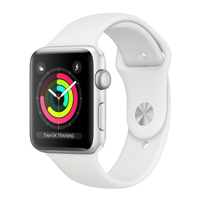 Apple Watch Sport 38mm Silver Aluminum Case White Sport Band S3